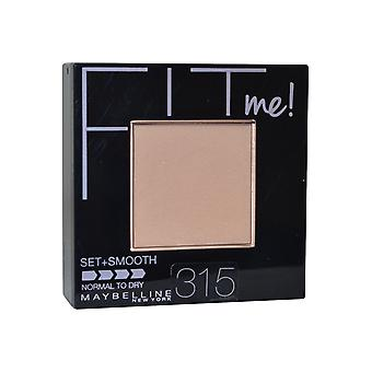 Maybelline Fit Me Pressed Powder Set + Smooth 9g Soft Honey #315 Normal To Dry