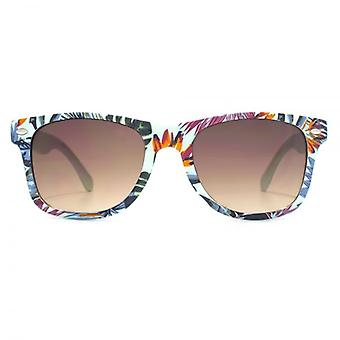 Monkey Monkey Childrens Alex Retro Sunglasses In Mint Tropical Print