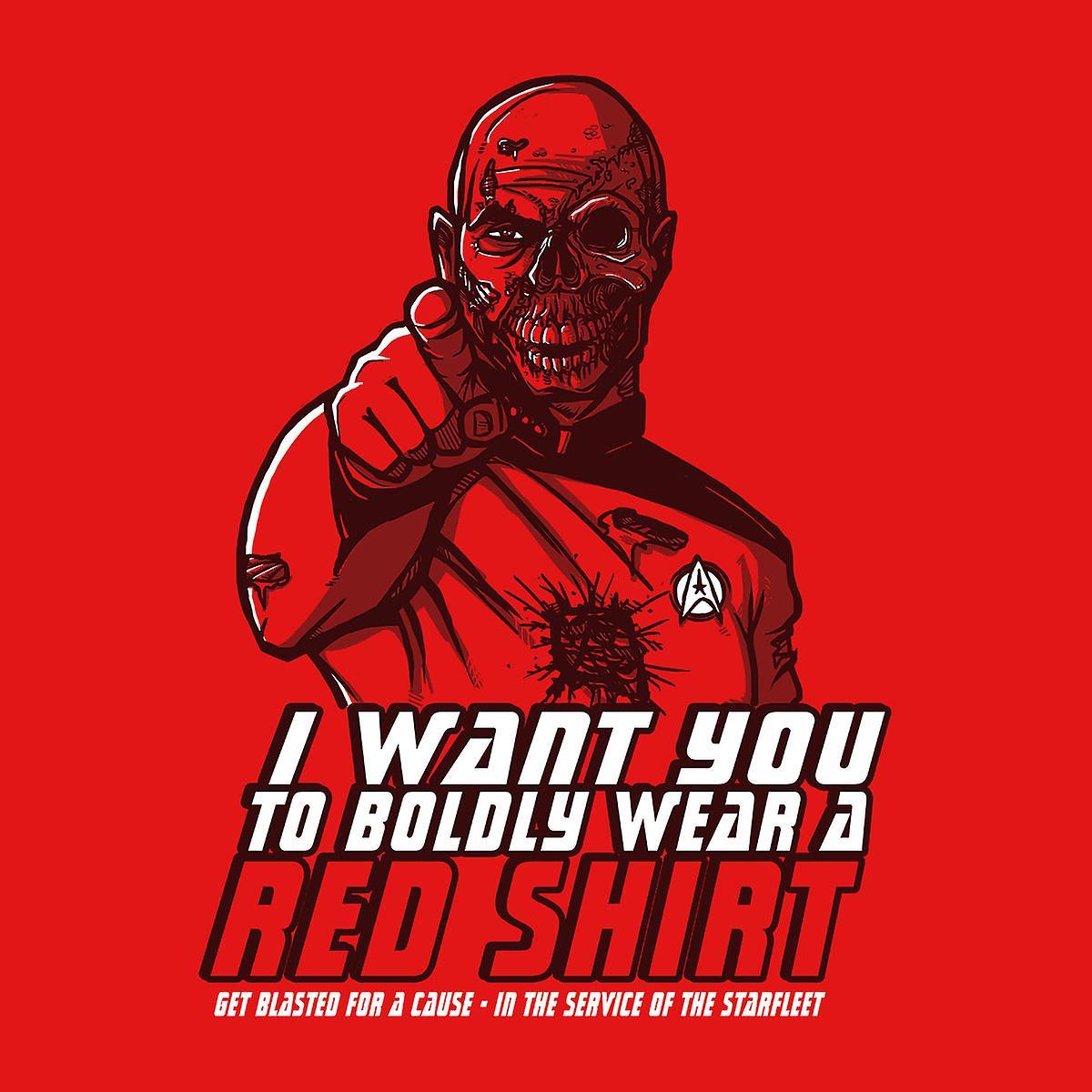Red Shirt Zombie Star Trek Kid's Sweatshirt