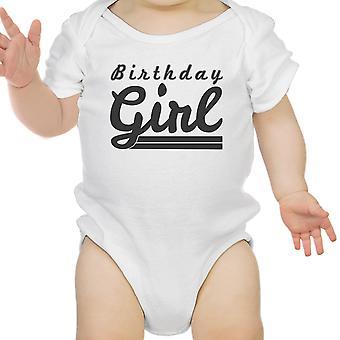 Mädchen weißen Bodysuit Baumwolle süße 1. Geburtstag Baby Mädchen Geburtstagsgeschenk