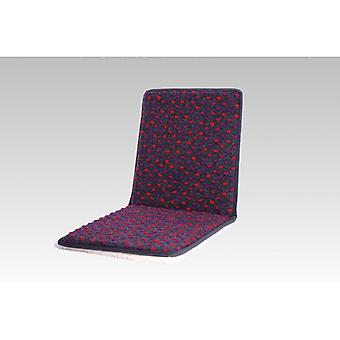 Double Chair cushions seat cushion with backrest anthracite coloured 80 x 37 cm wool