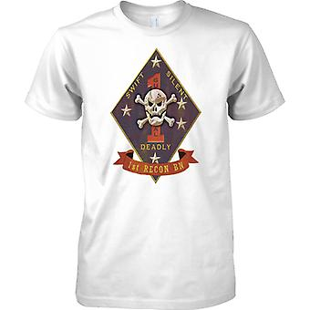 USMC 1 ° Recon Insignia - Swift Silent Deadly - US Marines - Kids T Shirt