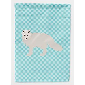 Carolines tesoros BB8051GF blanco ártico Fox azul Check bandera jardín tamaño
