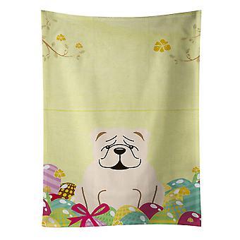 Carolines påskeegg skatter BB6123KTWL engelsk Bulldog hvite kjøkkenhåndkle