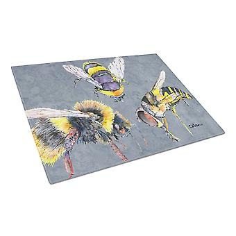 Carolines Treasures  8879LCB Bee Bees Times Three Glass Cutting Board Large