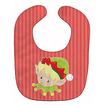 Carolines Treasures  BB8666BIB Christmas Blonde Boy Elf Baby Bib