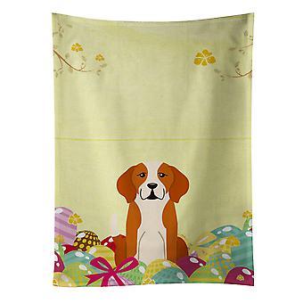 Carolines Treasures  BB6110KTWL Easter Eggs English Foxhound Kitchen Towel
