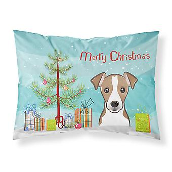 Christmas Tree and Jack Russell Terrier Fabric Standard Pillowcase