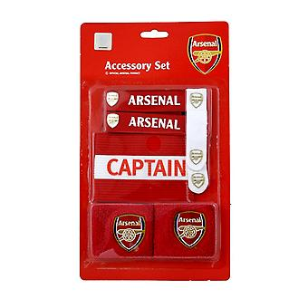 Arsenal FC Official Football Crest Sports Accessory Set
