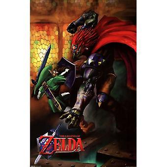 Zelda - Link vs Ganondorf affiche Poster Print