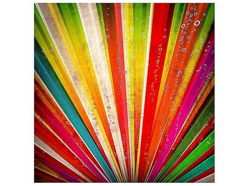 Lærred Print abstrakt farvet lys stråler
