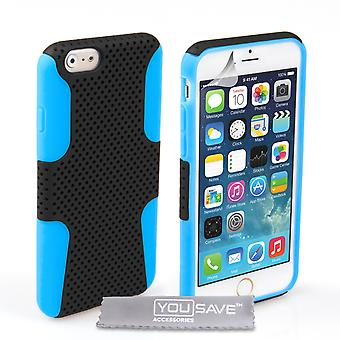 Iphone 6 And 6s Mesh Combo Gel Case - Blue
