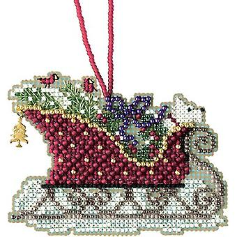 Evergreen Sleigh Counted Cross Stitch Kit-3.5
