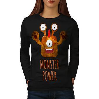Monster Power Women BlackLong Sleeve T-shirt   Wellcoda