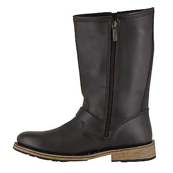 Harley Davidson Clint Mens Leather Motorcycle Buckle Side Zip Boot