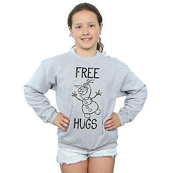 Disney Girls Frozen Olaf Free Hugs Sweatshirt