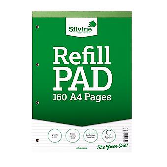 Silvine A4 160 Page Narrow Refill Feint Pad (6 Pack)