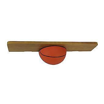 18 Inch Long Wooden Sports Wall Shelf- Basketball