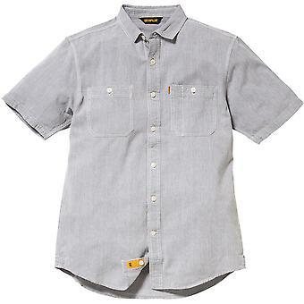 Caterpillar Mens grundläggande Kortärmad skjorta grå