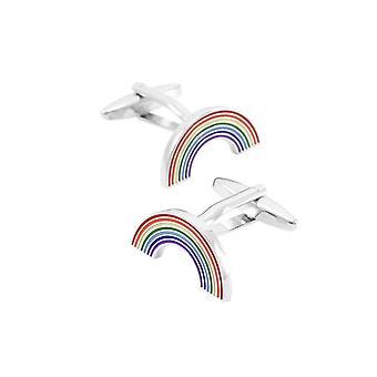 Luxury Rainbow Colour Multi Smart Cufflinks Wedding Business Unique Gift