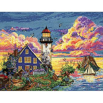 Lighthouse Sunset Counted Cross Stitch Kit-11