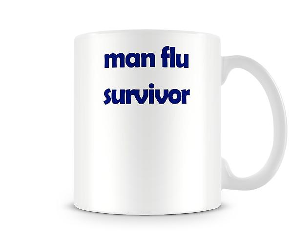 Man Flu Survivor Printed Mug