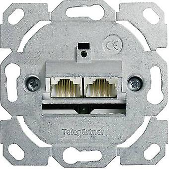 Network outlet Flush mount Insert CAT 6 2 ports Te