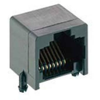 Modular build-in coupling RJ45 Socket, horizontal mount Number of pins: 8P8C 2531 01 Black Lumberg 2531 01 1 pc(s)