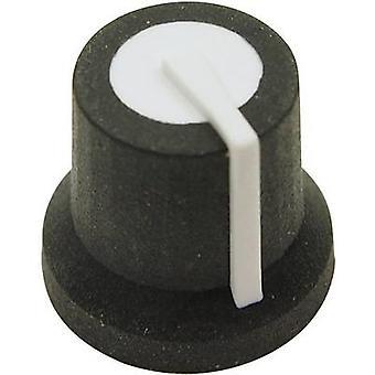 Cliff CL170822BR Control knob Black/white (Ø x H) 16.8 mm x 14.5 mm 1 pc(s)