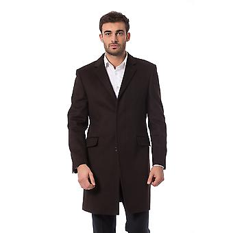 Full-length jacket Brown Carlo Cagno Trussardi Collection Man