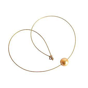 Gemshine - Panie - naszyjnik - koralik - * złota * - pozłacane - 45 cm