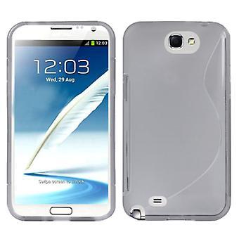 Mobiele geval TPU case voor Samsung Galaxy touch 2 N7100 grijs