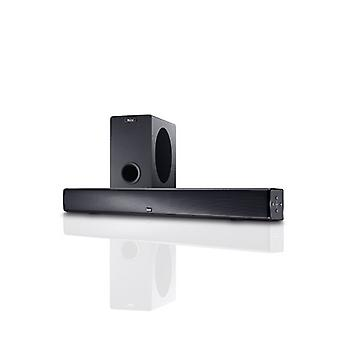 B goods magnate SBW 250, full active home theater sound bar with wireless subwoofer