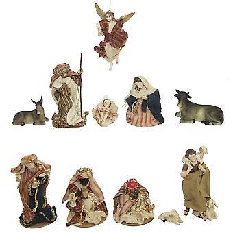 11-delige Nativity beeldjes. Instellen van kunsthars Nativity beeldjes Oosterse 11 cm