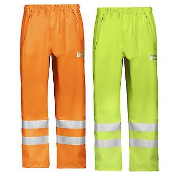 Snickers Workwear Hej Vis vattentäta regnbyxor (Lightweight) klass 2-8243