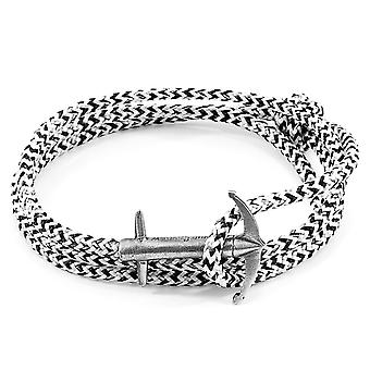 Anchor & Crew White Noir Admiral Anchor Silver and Rope Bracelet