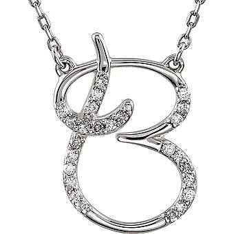 Sterling Silver Diamond Necklace B 1 / 8ct