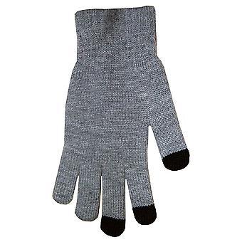 Boss Tech BTP-GLV-GRAY Knit Touchscreen Gloves, Texting Gloves, Tech Gloves (Gra