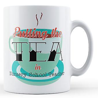 Sette te i barnehage lærer - trykte krus