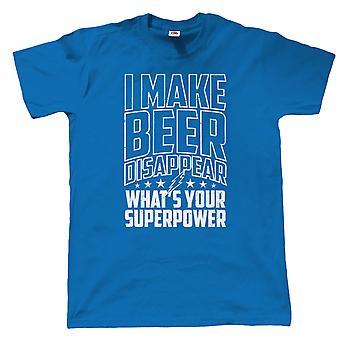I Make Beer Disappear Mens Funny T Shirt, Gift for Dad Grandad Him