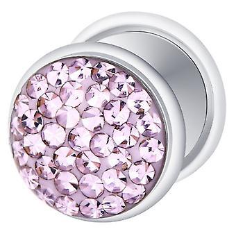 Falske snyder øret Plug sølv forgyldt, ørering, krop smykker, med Multi krystal Tanzanite lilla