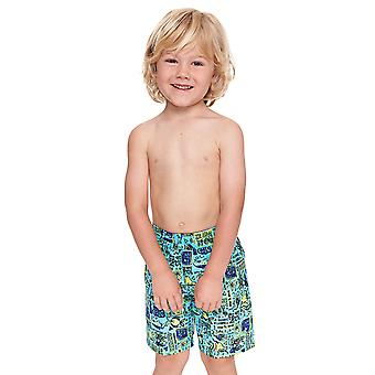 Zoggs Junior Boy's Swimming Shorts Jade/Multi-Colour for 6-15 Years Children