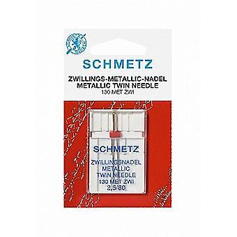 Schmetz Nähmaschinennadeln - Twin metallischen 2.5/80
