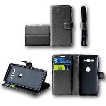 Huawei p smart 2019 / ære 10 ordrett lomme lommebok premie svart beskyttende ermet coveret veske nytt tilbehør