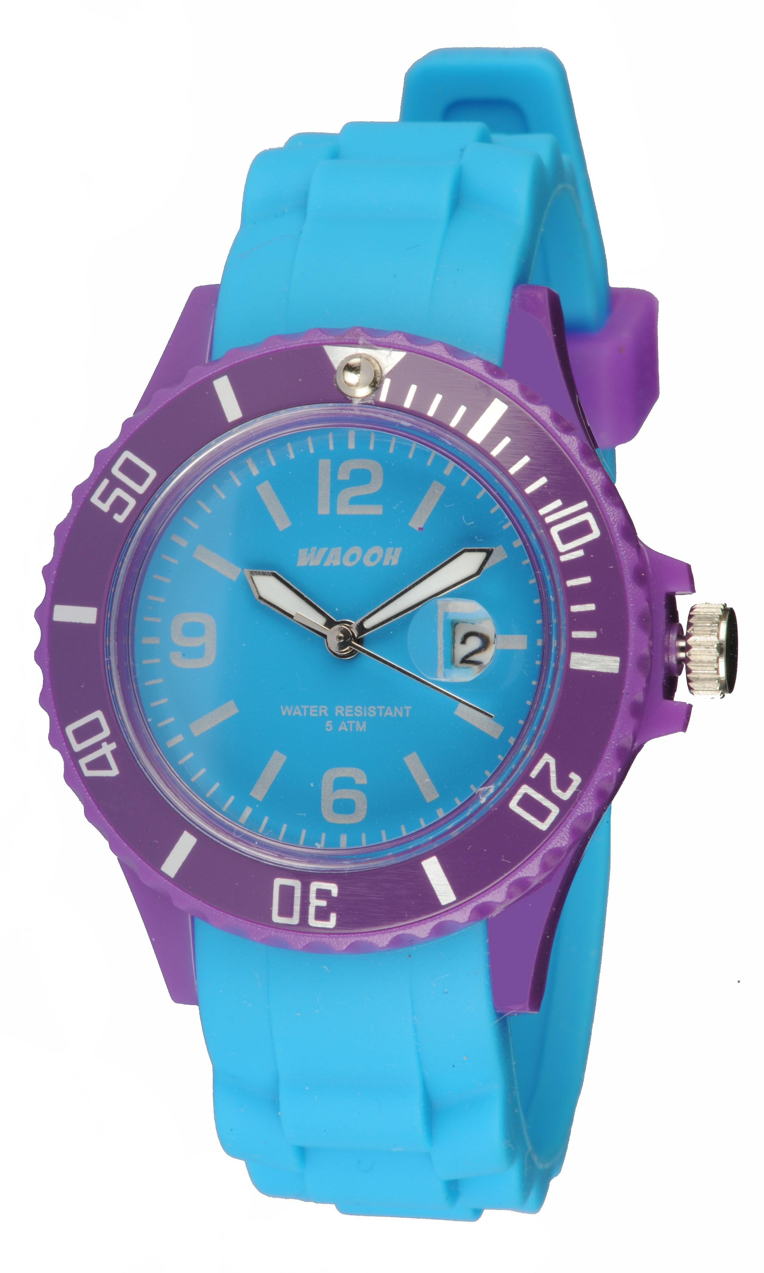 Waooh - Watch Monaco34 - Bicolore & Purple