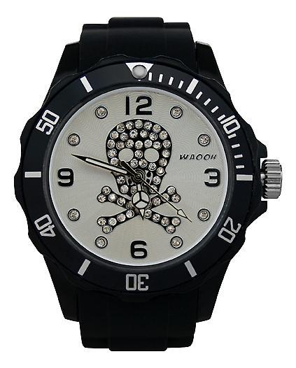 Waooh - Death Watch Rhinestones Black Dial Color Head 39
