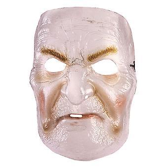 Maschera di vecchia signora trasparente