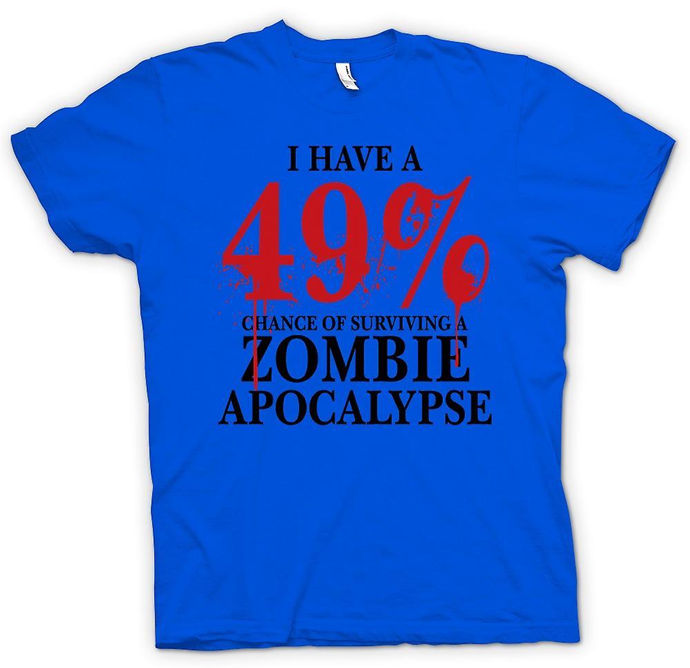 Mens T-shirt-Zombie-Apokalypse 49 % - Horror lustig