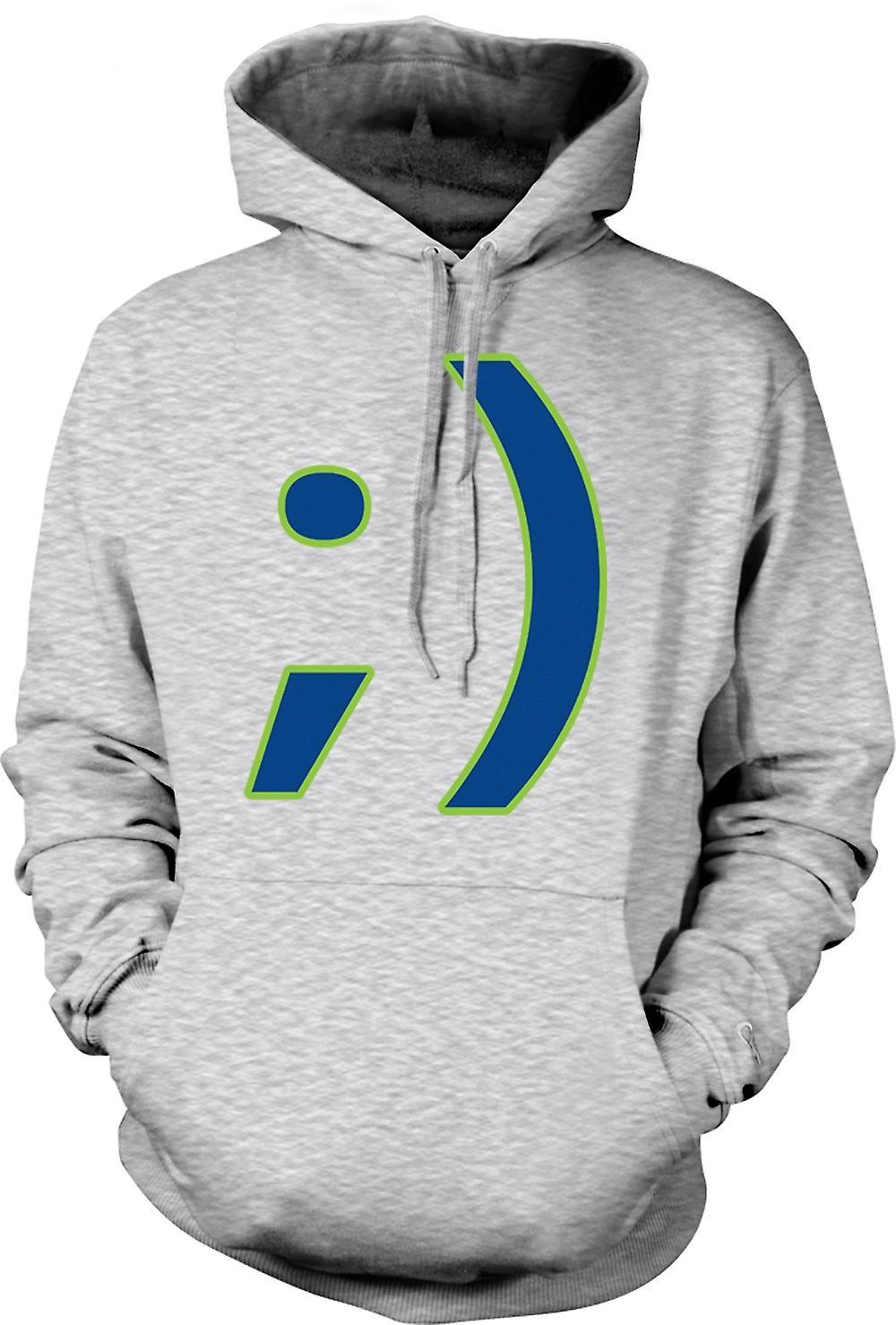 Mens Hoodie - Smiley - Funny