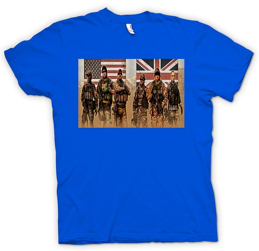 Heren T-shirt-VS en UK Special Forces. SAS en Delta